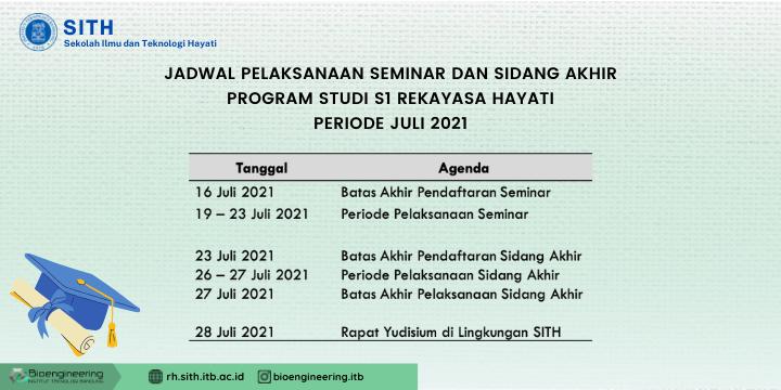 Jadwal Seminar dan Sidang Periode Yudisium Juli